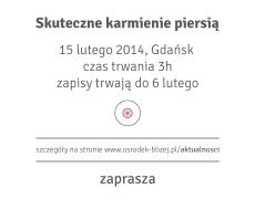 Skuteczne karmienie piersią – 15 lutego, Gdańsk